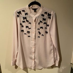 Victoria secret bow blouse